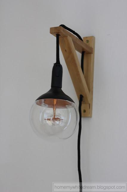 lampa w stylu skandynawskim, lampa w stylu loft, kinkiet w stylu skandynawskim, kinkiet w stylu loft, wspornik Ekby Valter, żarówka dekoracyjna Smukee