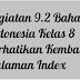 Kegiatan 9.2 Bahasa Indonesia Kelas 8 Perhatikan Kembali Halaman Index