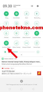 Cara menghilangkan tanda gembok di atas layar Realme C1