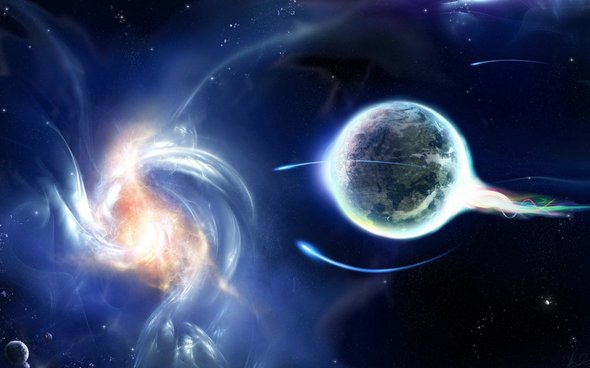 A galactic tidal wave of divine light is descending upon earth