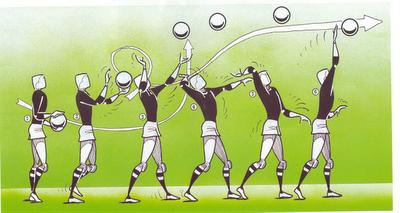 saque alto en voleibol dibujo