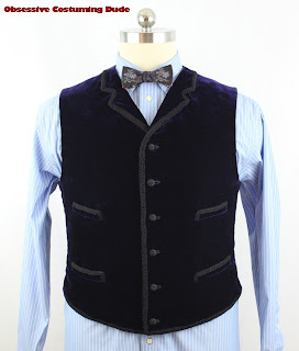 11th Doctor velvet waistcoat sewing pattern
