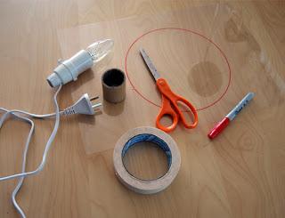 como hacer una lampara casera bastante original