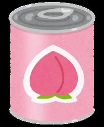 フルーツ缶詰のイラスト(桃)