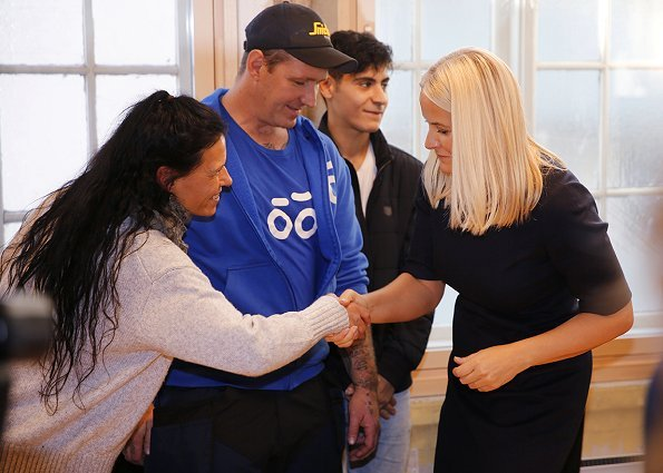 Crown Princess Mette Marit of Norway opened a new Red Cross Centre for the return of former convicts to society