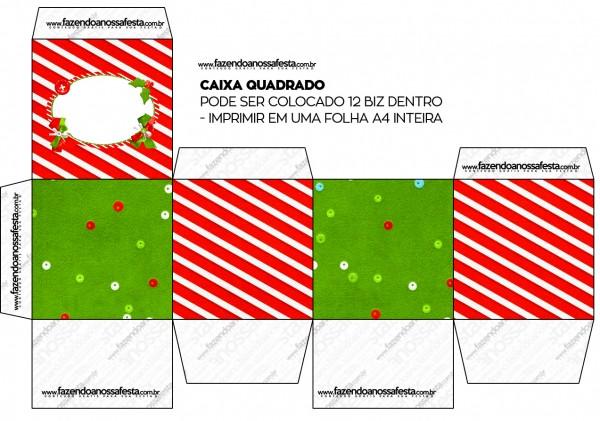 Cajas de Navidad a Rayas para imprimir gratis.