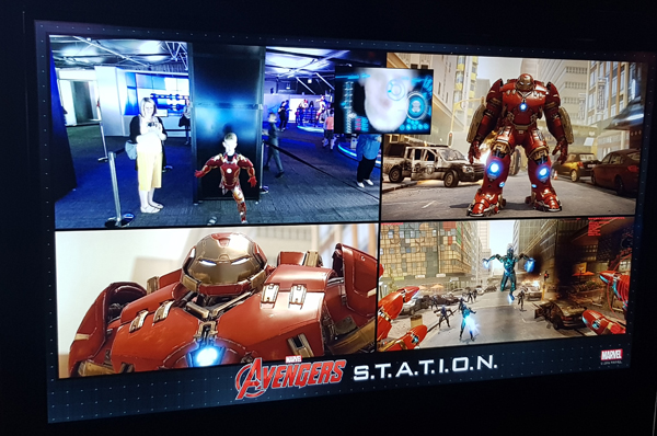 Interactive Hulk Buster game at Avengers S.T.A.T.I.O.N.