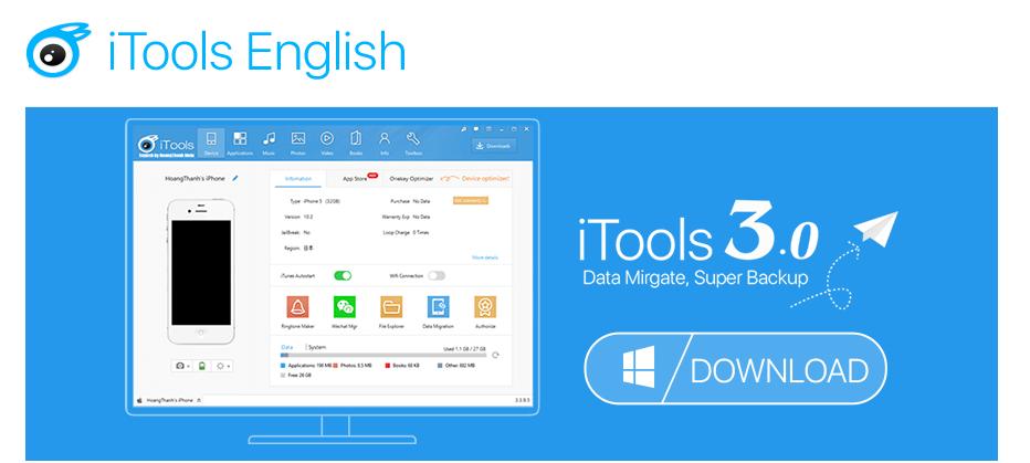 Itools 3 english download windows 7   Download iTools 3 4 4 0  2019