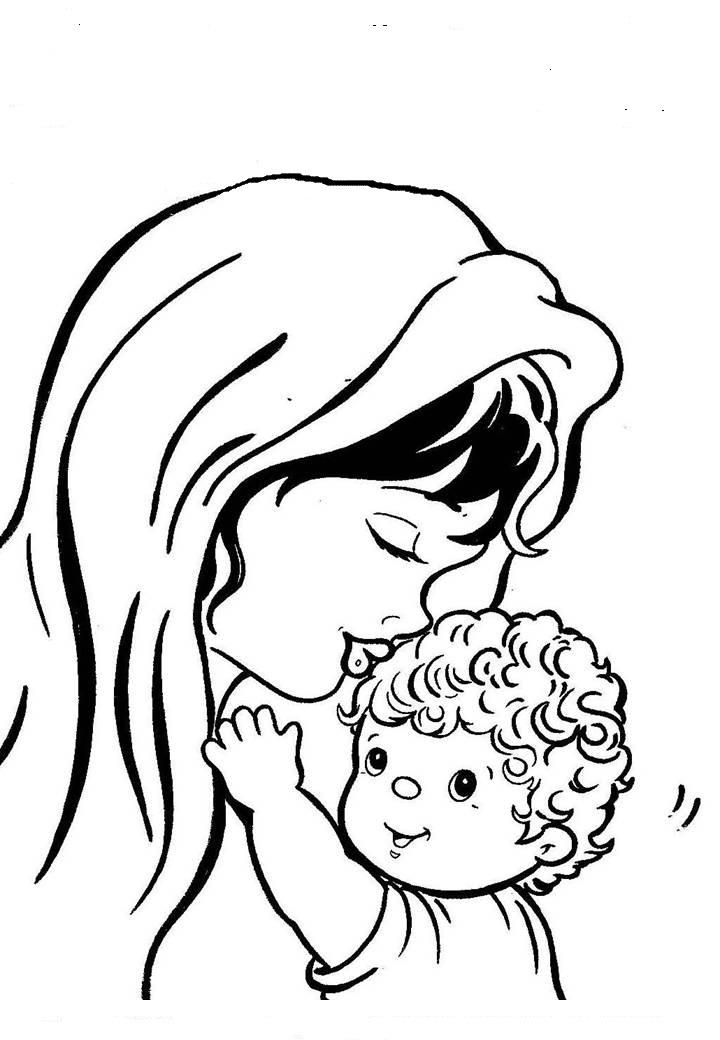 imagens de desenhos para colorir dia das mães