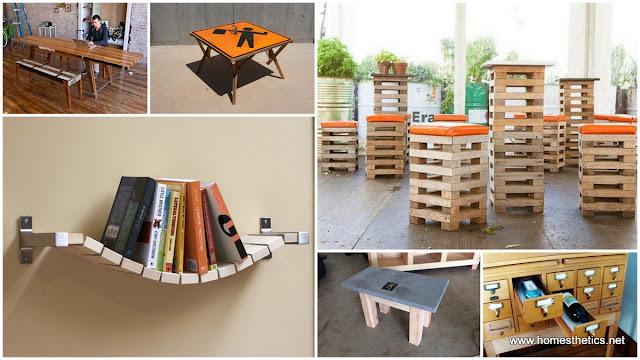Muebles con madera reciclada