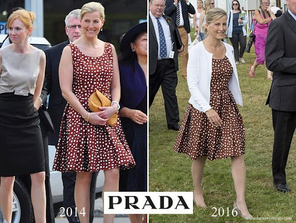 Countess Sophie of Wessex wore PRADA dot polka Dress