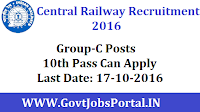 South Central Railway Recruitment 2016 For Sports Person Group-C Posts Apply Here