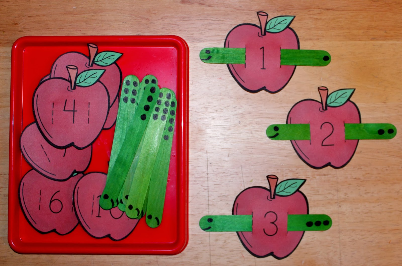 Apple And Worm Counting Activity