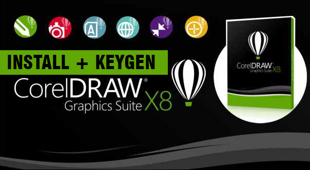 Cara Install CorelDraw Graphic Suite X8 + Crack