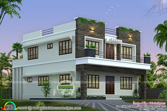 Beautiful Mansion Designs New Home Designs Latest Modern: Front, Side And Back View Of Box Model Home