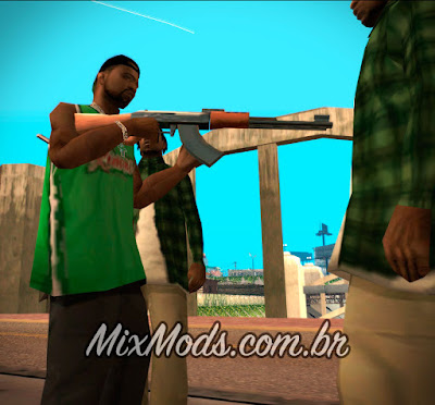 trocar escolher armas das gangues do gta sa