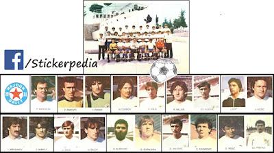 Hajduk Split album sličice Fudbaleri i Timovi 1983/84