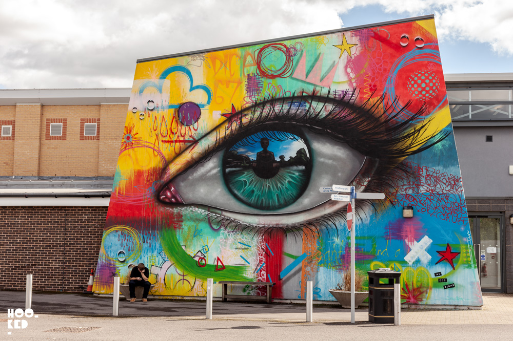 My Dog Sighs Street Art Mural in Cheltenham, UK