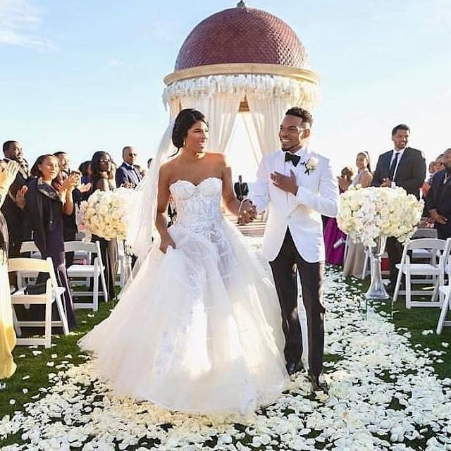 Stunning Photos From Chance The Rapper And Kristen Corley's Beachside Wedding.