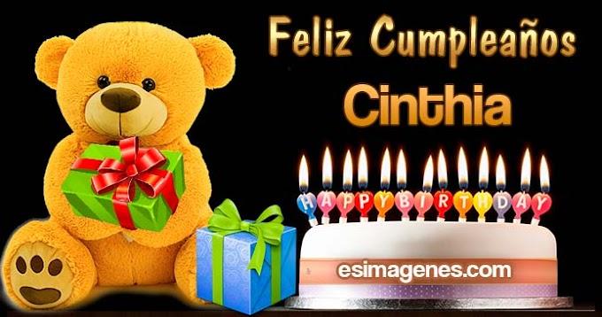 Feliz Cumpleaños Cinthia