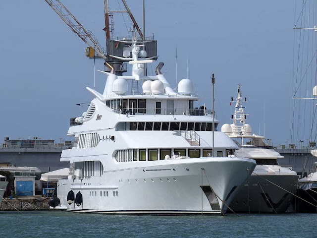 Superyacht Samar, IMO 1008190, port of Livorno