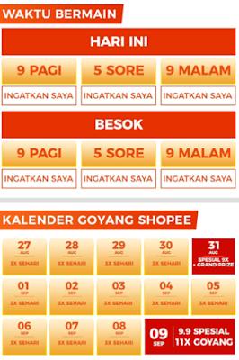 Jadwal Goyang Shopee Biar Dapat Koin Banyak