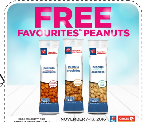 Mac's Free Favourites Peanuts Coupon