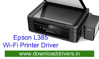 Epson L385 Wifi All in One Printer driver and Scanner