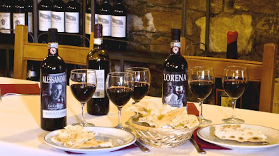 La Cantina house wine - an excellent Chianti Classico