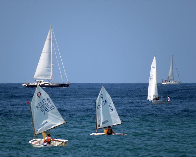 Sailboats on a Sunday morning, Terrazza Mascagni, Livorno