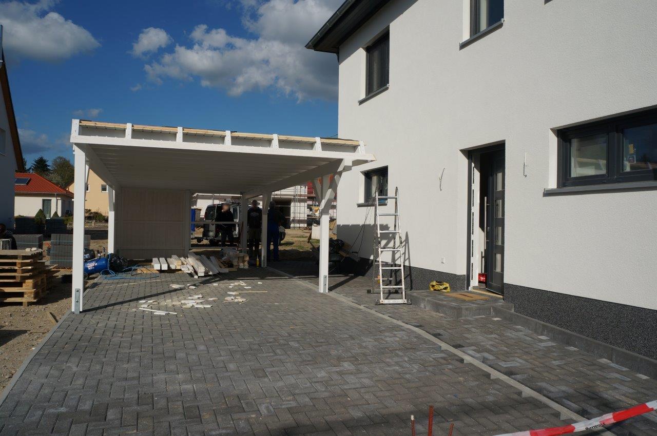 Bautagebuch von Sabrina & Frank: Fertigstellung Carport und ...