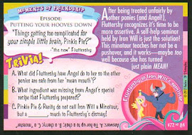 "My Little Pony ""I really AM a doormat."" Series 1 Trading Card"