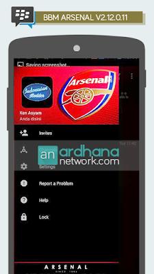 BBM Arsenal V2.12.0.11 - BBM MOD Tema Sepakbola