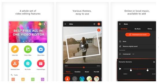 Aplikasi Memotong dan Menggabungkan beberapa video di android
