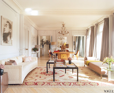 L'Wren Scott's Paris Home living room