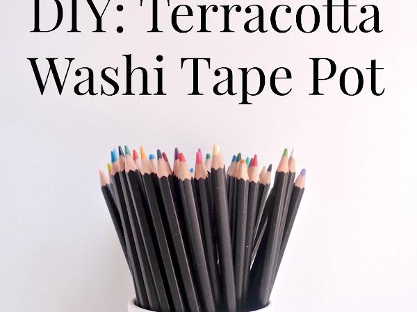 DIY: Terracotta Washi Tape Pot on HomeDIT