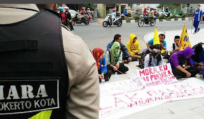 Demo Tolak FDS, PMII Mojokerto Gelar Tahlilan