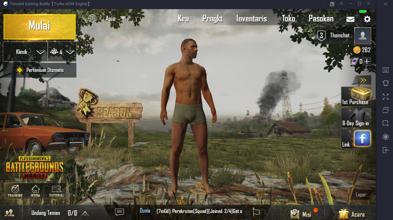 Main PUBG Mobile di Laptop PC Tanpa Emulator