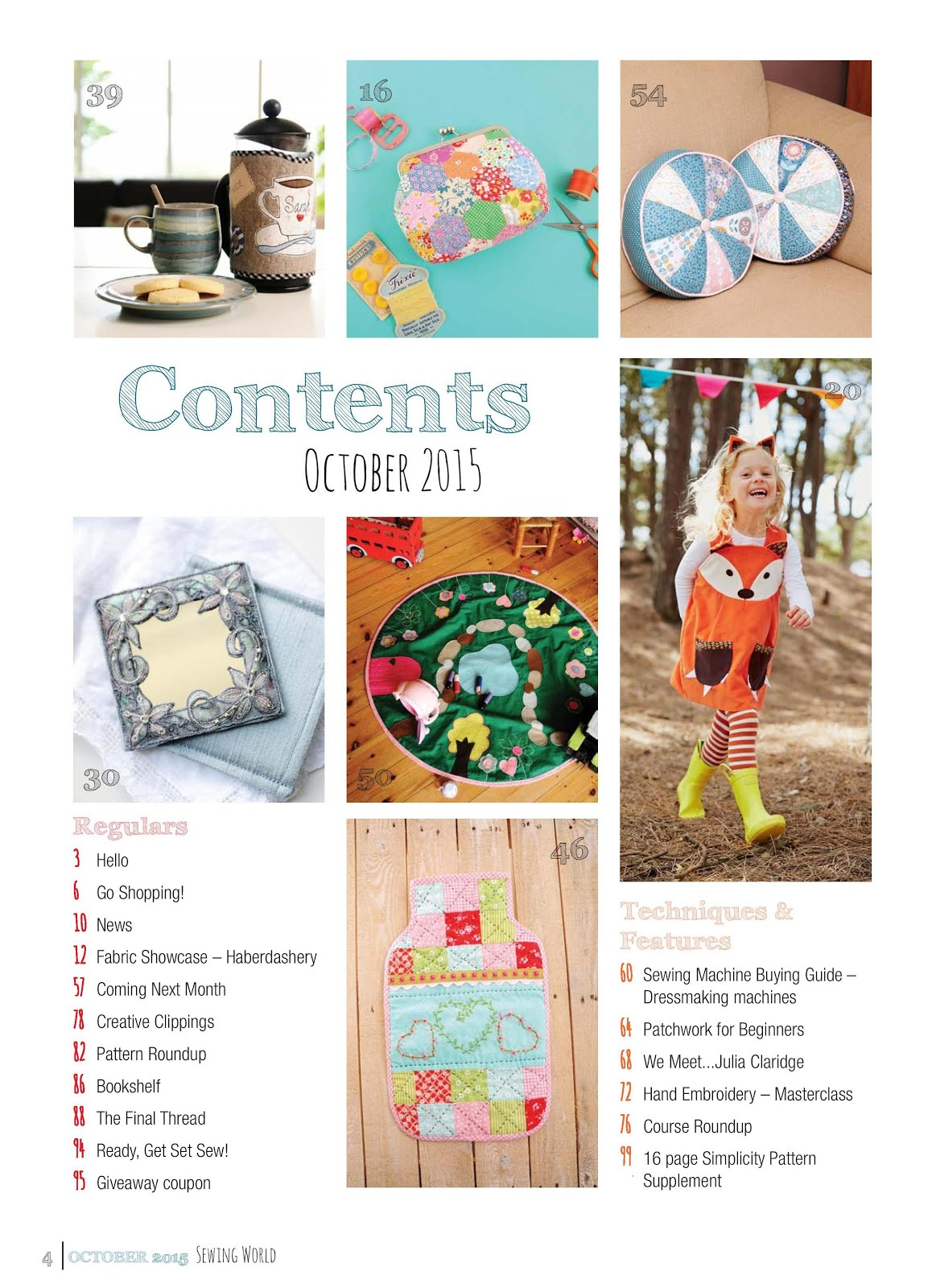 Sewing World October 2015