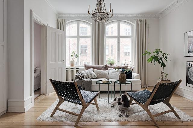 Cute and elegant nordic interior