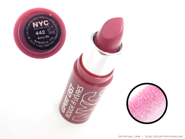 New York Color Expert Last Lipstick Swatches 442 Berry Me