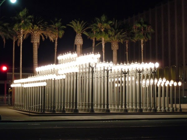 Urban Light sculpture Chris Burden LACMA