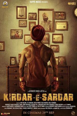 Poster Of Pollywood Movie Kirdar-E-Sardar 2017 300MB HDRip 480P Full Punjabi Movie