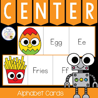 Alphabet Three Piece Puzzle Literacy Center