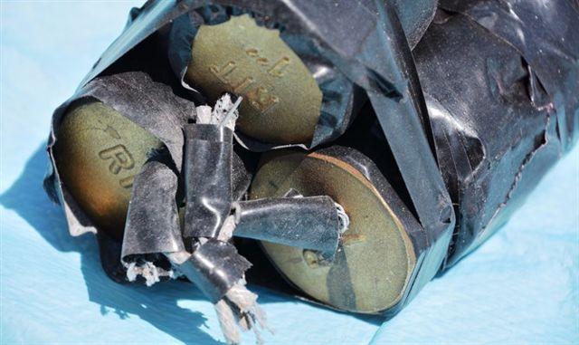 Bombas preparadas para un ataque al tren ligero de Jerusalem