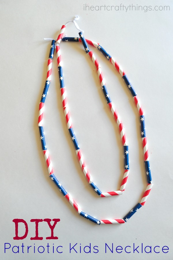 Diy Patriotic Kids Necklace I Heart Crafty Things