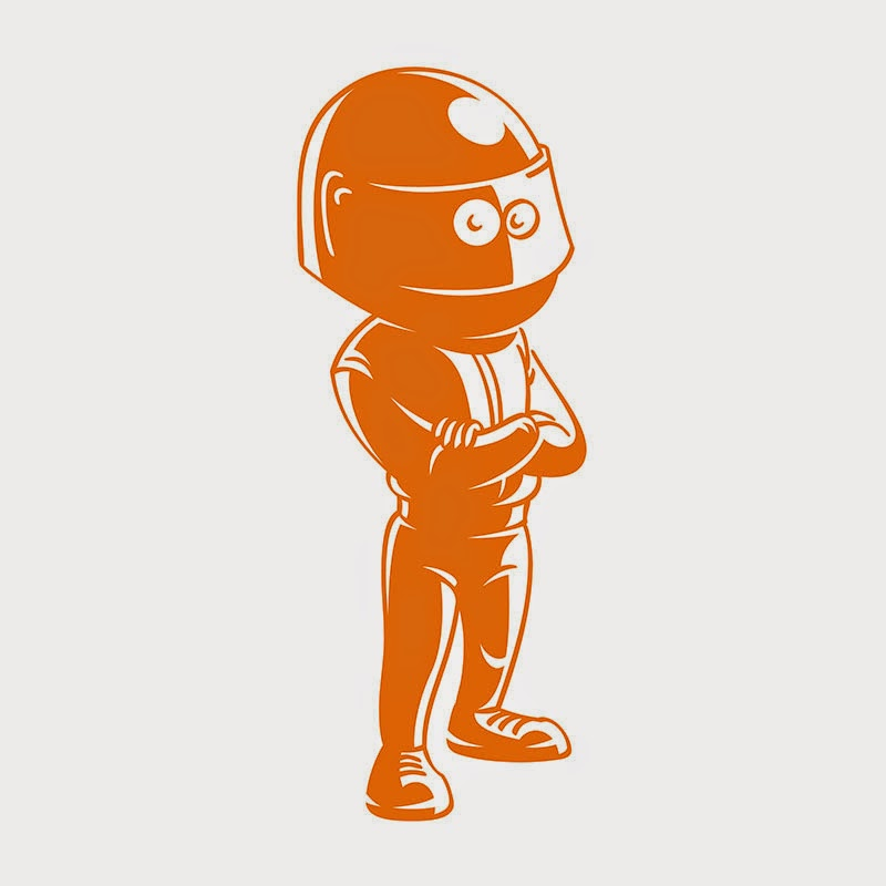 race car driver mascot logo