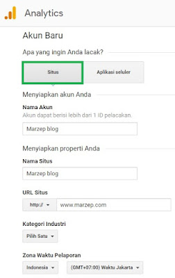 Cara daftra blog pada Google Analytics
