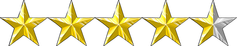 Image result for 4 1/2 stars out of 5