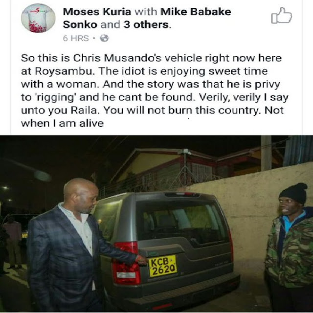 Moses Kuria Facebook Post